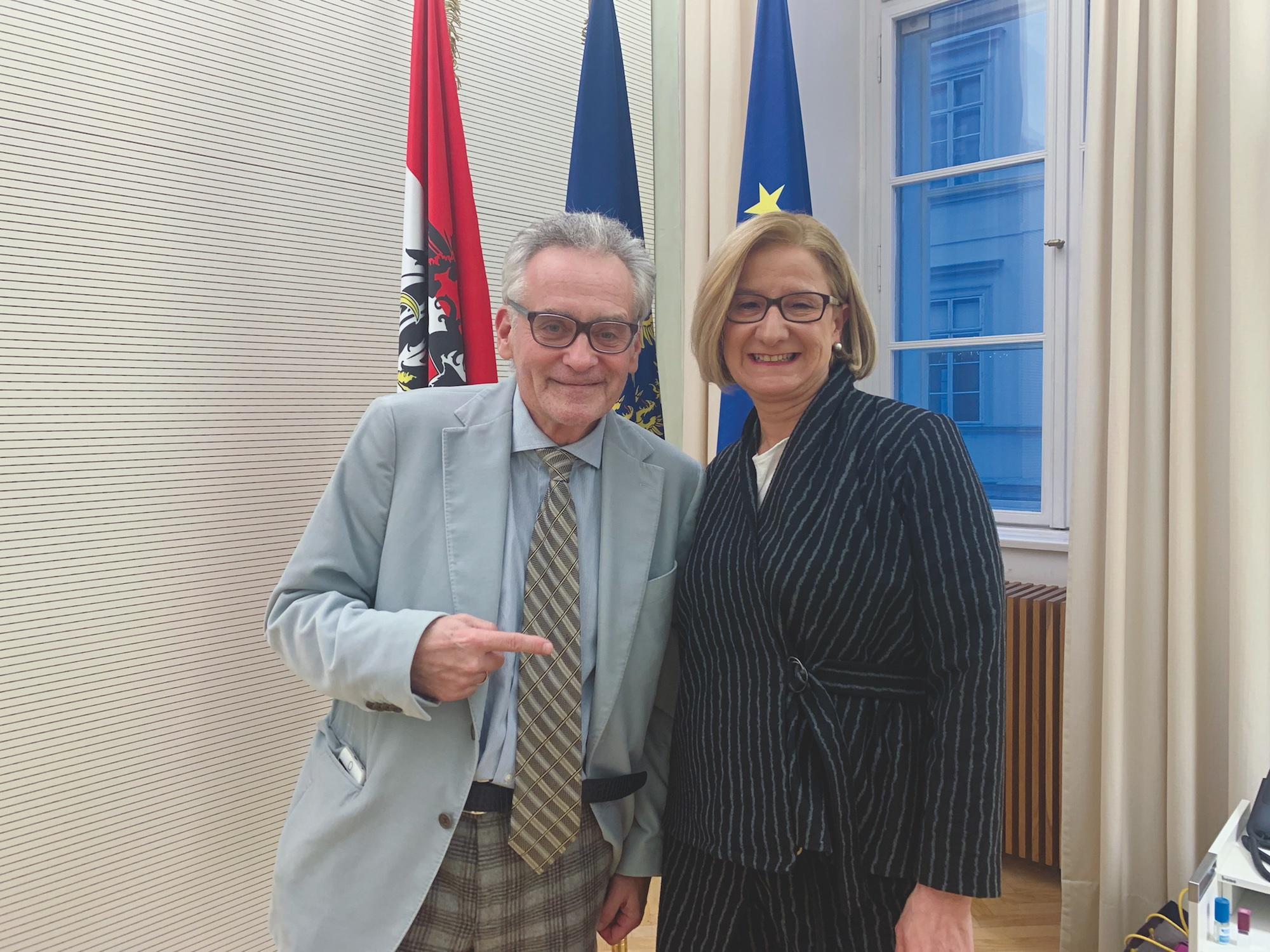 Christian W. Mucha und Mikl-Leitner